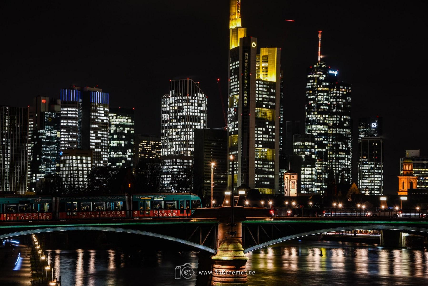 Nachtaufnahme in Frankfurt