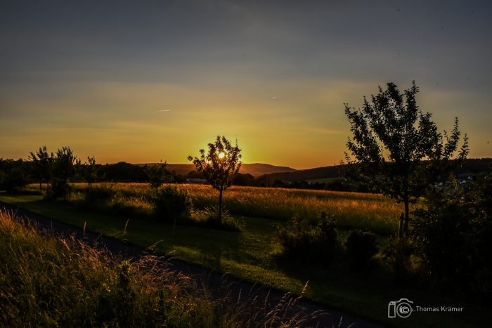 Spesssart, Sonnenuntergang