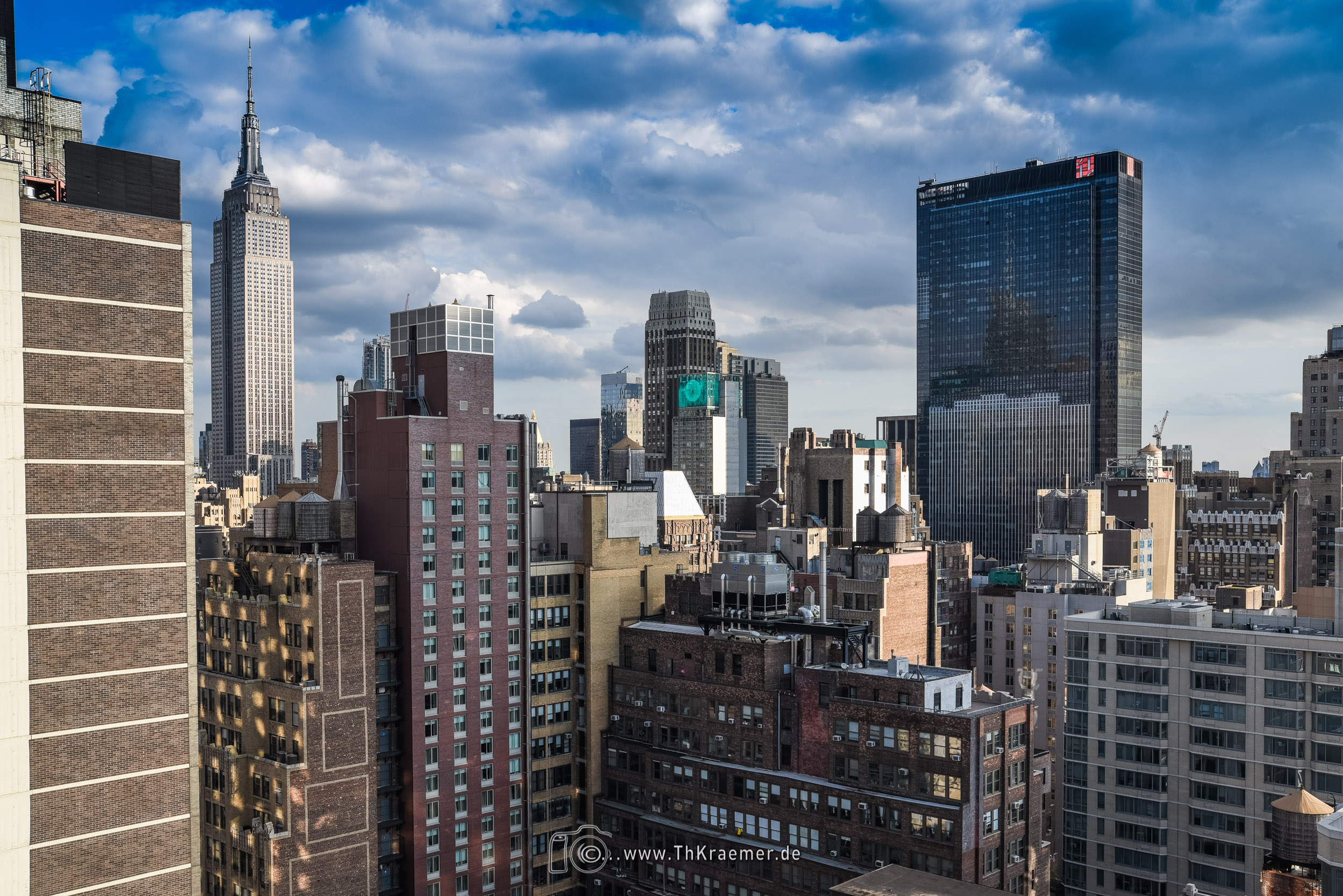 Blick vom Hotel über New York