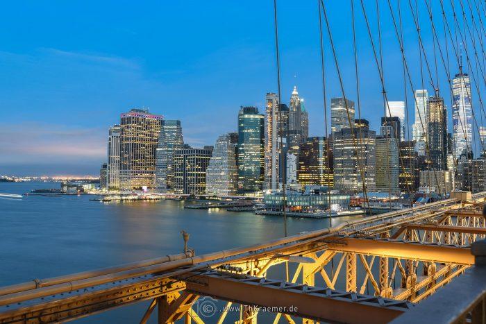 Brooklny Bridge, New York, Skyline